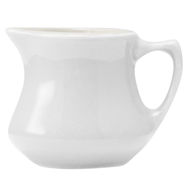 Hall China 1950AWHA Ivory (American White) 3.5 oz. Empire Creamer - 24/Case