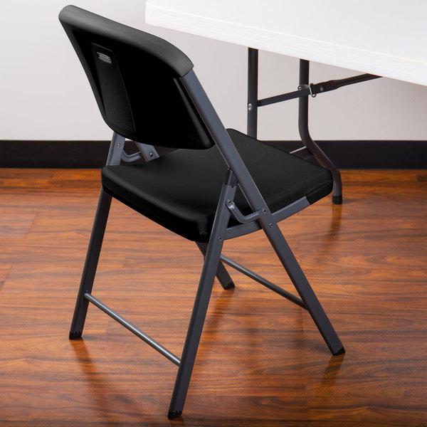 Lifetime 80187 Black Contoured Folding Chair - 4/Pack