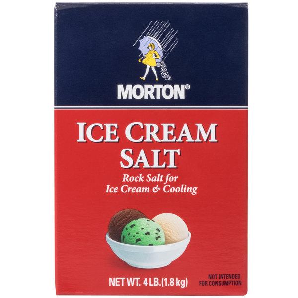Morton 4 lb  Ice Cream Rock Salt