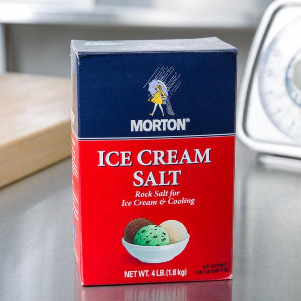 Morton 4 lb. Ice Cream Rock Salt