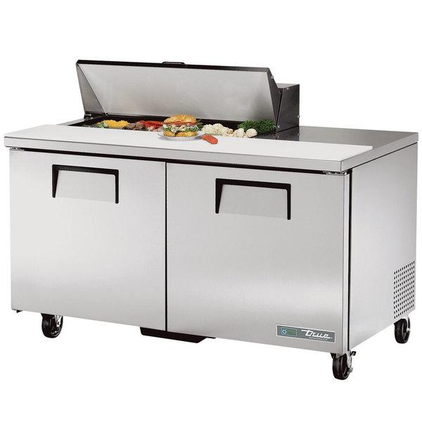 True TSSU-60-10-HC 60 inch 2 Door Refrigerated Sandwich Prep Table