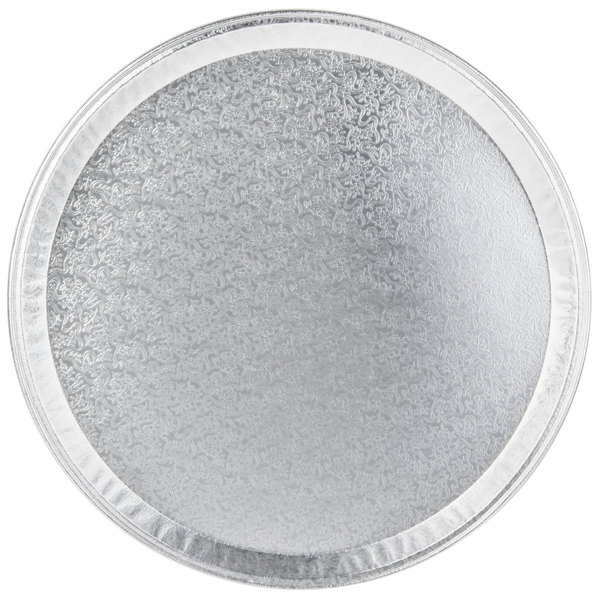 "16"" Round Foil Catering Tray - 5/Pack"