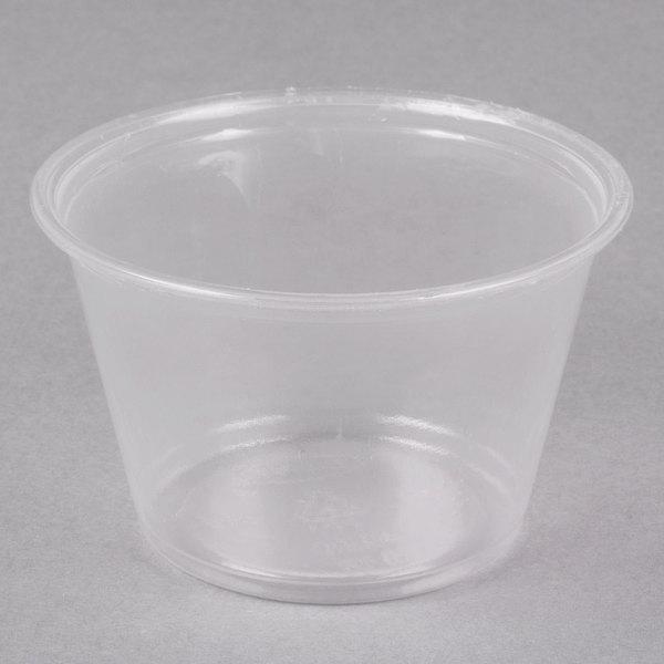 Dart Conex Complements 400PC 4 oz. Translucent Plastic Souffle / Portion Cup - 125/Pack