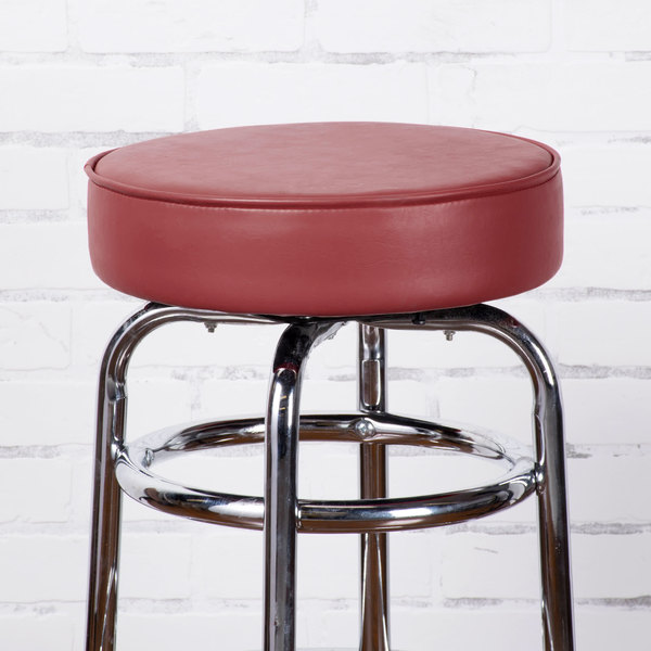 """Lancaster Table & Seating 3 1/2"""" Thick Crimson Barstool Seat"""
