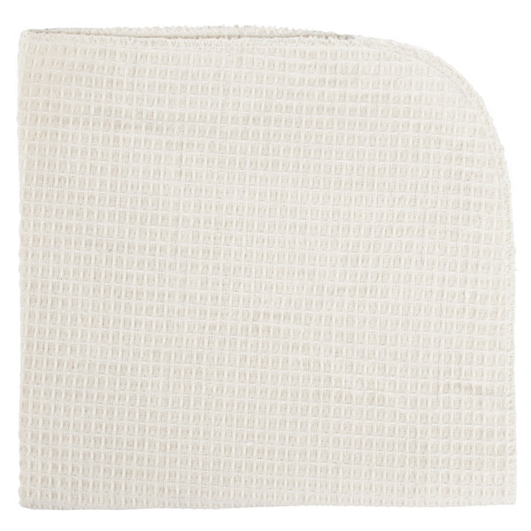 18 inch x 18 inch Natural / Dye-Free 100% Cotton Waffle-Weave Dish Cloth - 12/Pack