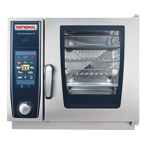 Rational B608106.12 SelfCookingCenter XS 6-2/3 E Single Half Size Electric Combi Oven - 208/240V, 3 Phase, 5.7 kW Main Image 1