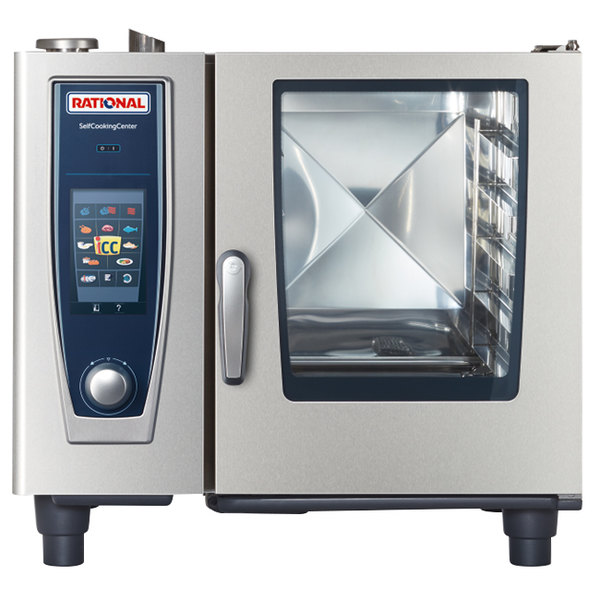 Rational SelfCookingCenter 5 Senses Model 61 B618106.43 Single Electric Combi Oven - 480V, 3 Phase, 11.1 kW Main Image 1