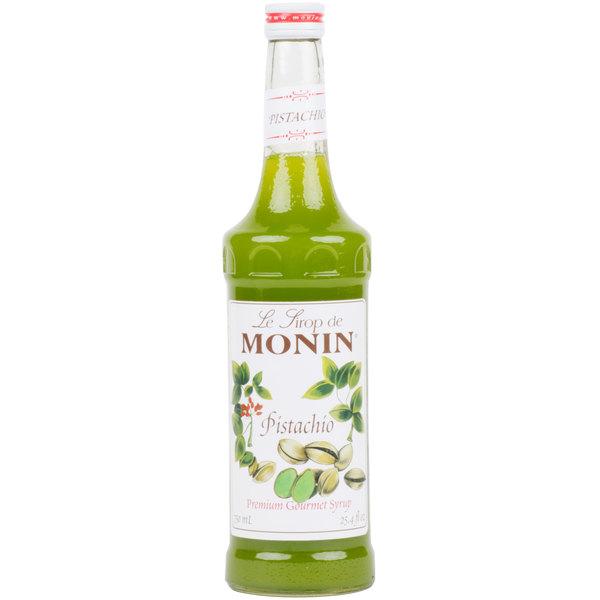 Monin 750 mL Premium Pistachio Flavoring Syrup