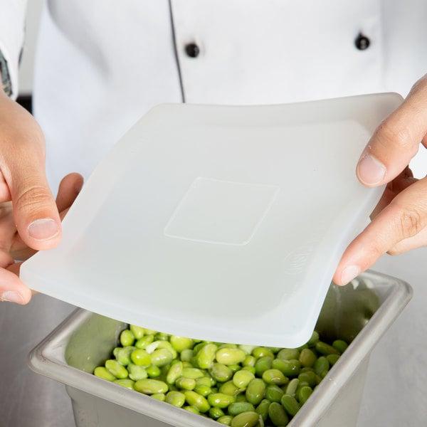 1/6 Size Hi-Heat Silicone Flexsil Food Pan Lid Main Image 6