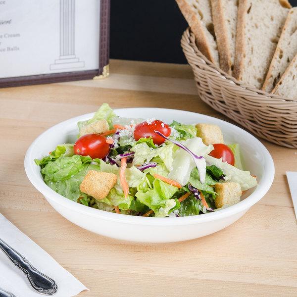 Tuxton BWD-0842 DuraTux 24 oz. White China Pasta / Salad Bowl - 12/Case Main Image 5
