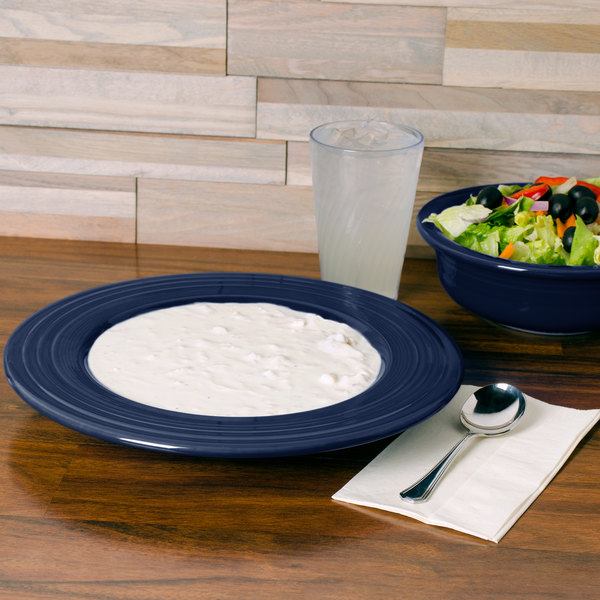 Fiesta Tableware from Steelite International HL462105 Cobalt Blue 21 oz. China Pasta Bowl - 12/Case Main Image 3