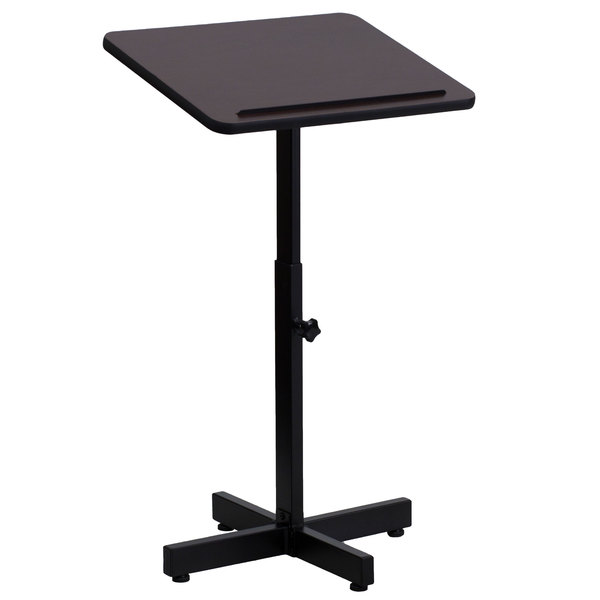 Flash Furniture XU-LECTERN-ADJ-GG Adjustable Height Metal Lectern Main Image 1