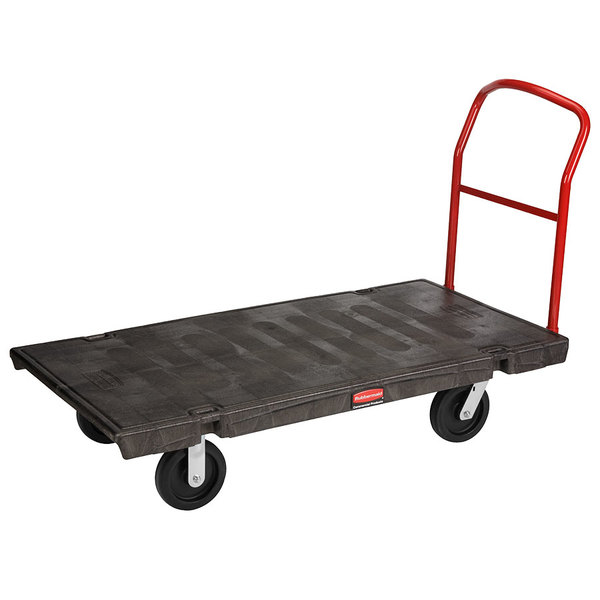 "Rubbermaid FG446610BLA 30"" x 60"" Heavy-Duty Platform Truck - 1000 lb. Capacity Main Image 1"