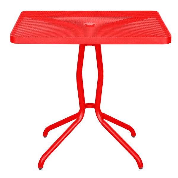 "BFM Seating DVN3232GEU Nexus 32"" Square Grenadine Steel Dining Table"