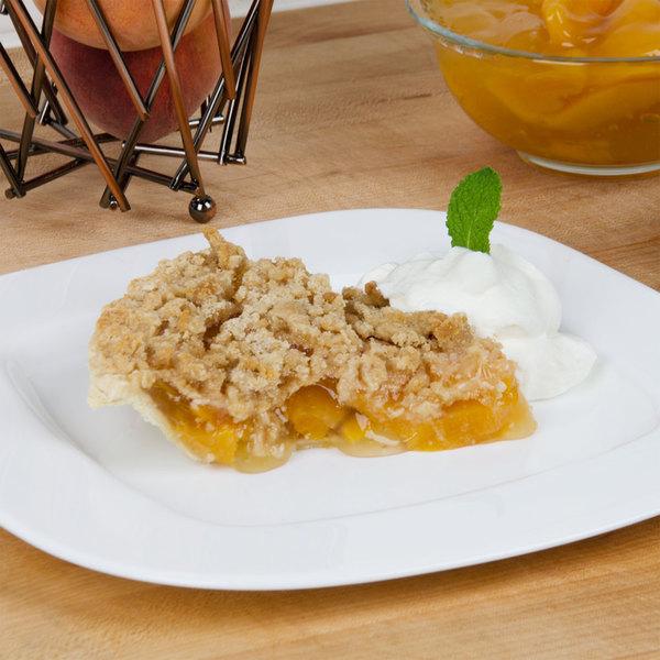 Lucky Leaf #10 Can Non-GMO Peach Pie Filling - 3/Case