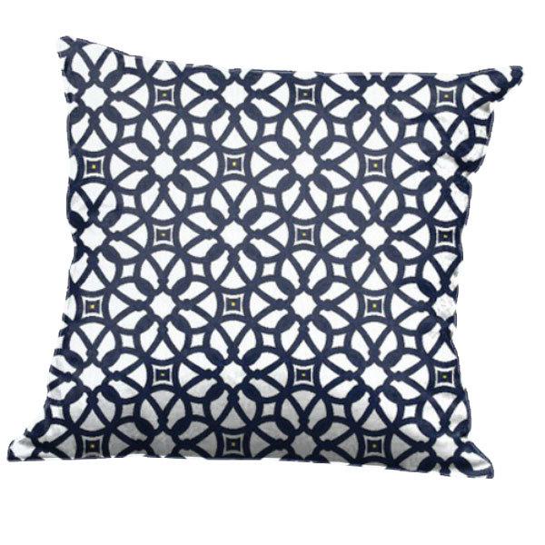 BFM Seating PH5101-PLX Luxe Indigo Canvas Throw Pillow Main Image 1