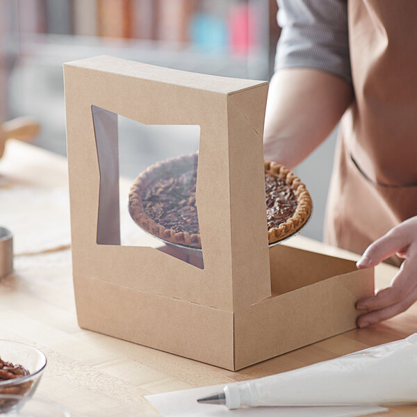 20 Pack of White Paperboard Window Cake//Pie Baker Boxes 9 x 9 x 2.5 High