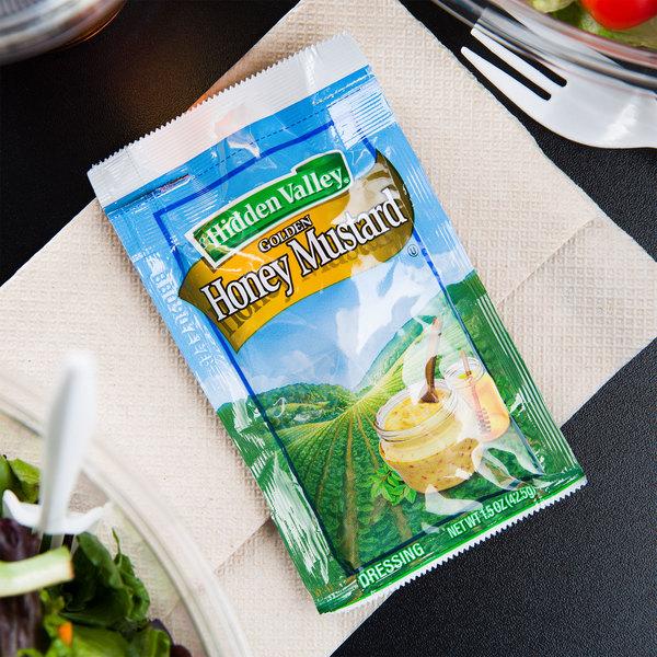 Hidden Valley 1.5 oz. Golden Honey Mustard Dressing Packet - 84/Case