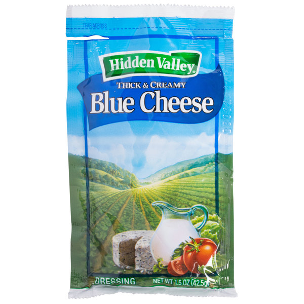 Hidden Valley 1.5 oz. Blue Cheese Dressing Packet - 84/Case