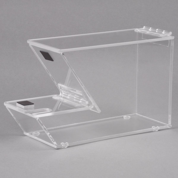 Cal-Mil 927-N Stackable Topping Dispenser with Lid Notch - 4 inch x 11 inch x 7 inch