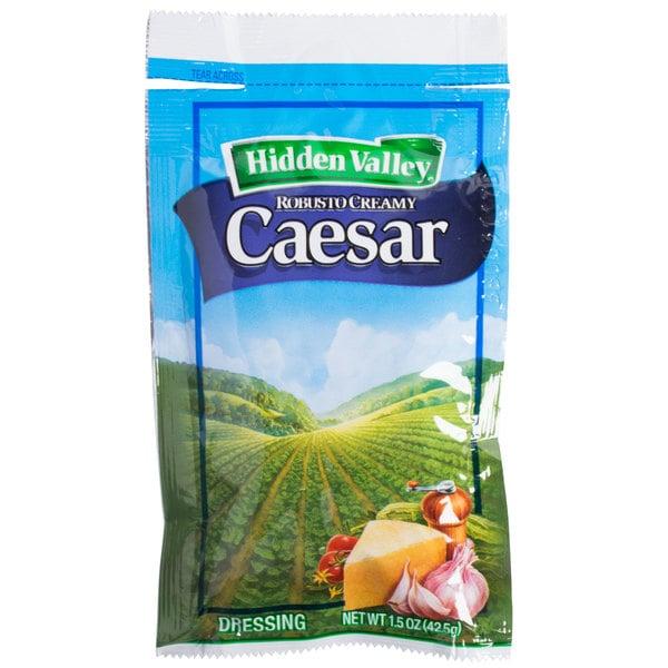 Hidden Valley 1.5 oz. Creamy Caesar Dressing Packet - 84/Case