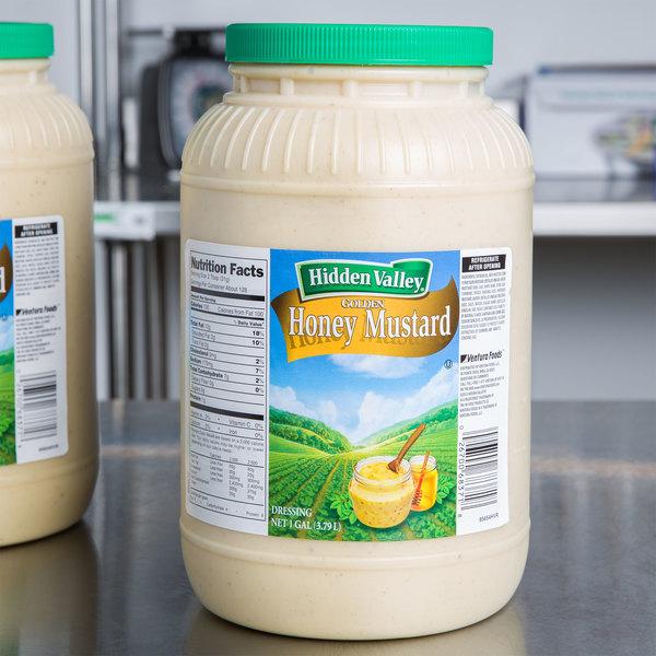 Hidden Valley 1 Gallon Golden Honey Mustard Dressing - 4/Case