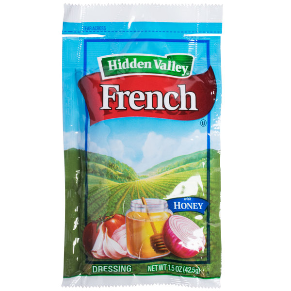 Hidden Valley 1.5 oz. French Dressing with Honey Packet - 84/Case