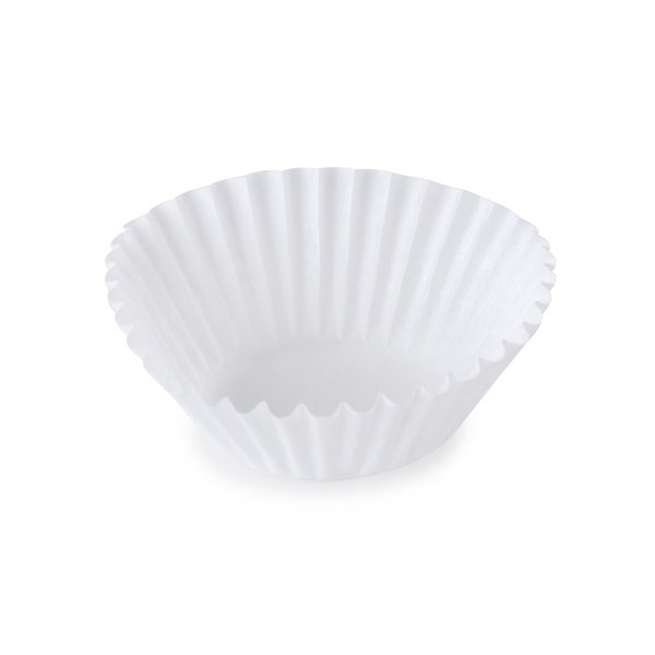 """White Fluted Baking Cup 1 3/8"""" x 15/16"""" - 10000/Case"""