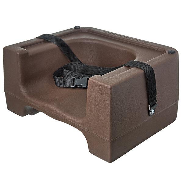 Carlisle 7114-101 Brown Plastic Booster Seat - Dual Seat Main Image 1