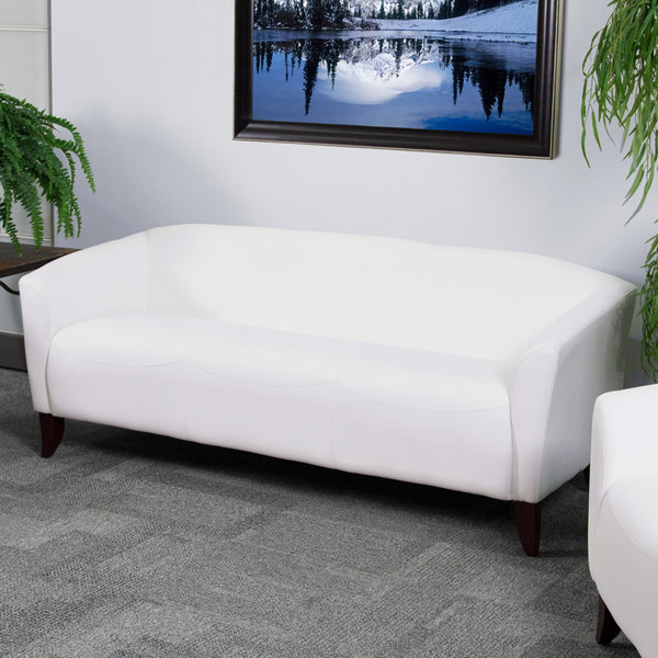 Flash Furniture 111 3 Wh Gg Hercules Imperial White Leather Sofa