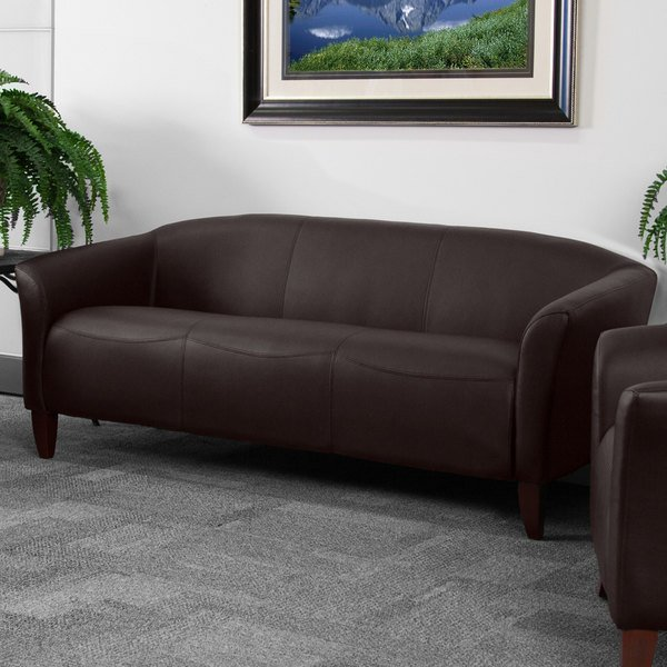 Flash Furniture 111 3 Bn Gg Hercules Imperial Brown Leather Sofa