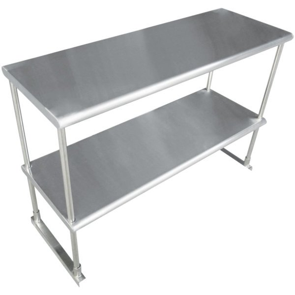"""Advance Tabco EDS-18-72 Stainless Steel Double Deck Knock Down Overshelf - 72"""" x 18"""""""