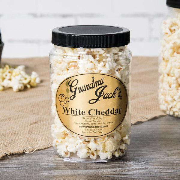 Grandma Jack's 32 oz. Gourmet White Cheddar Popcorn Main Image 4
