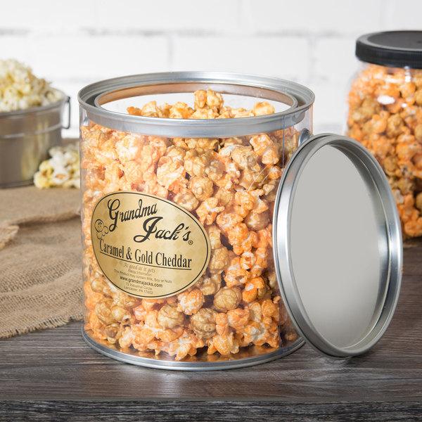 Grandma Jack's 1 Gallon Gourmet Caramel and Gold Cheddar Popcorn