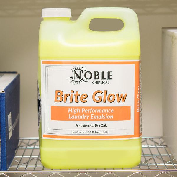 Noble Chemical 2.5 Gallon / 320 oz. Brite Glow High Performance Laundry Emulsion - 2/Case