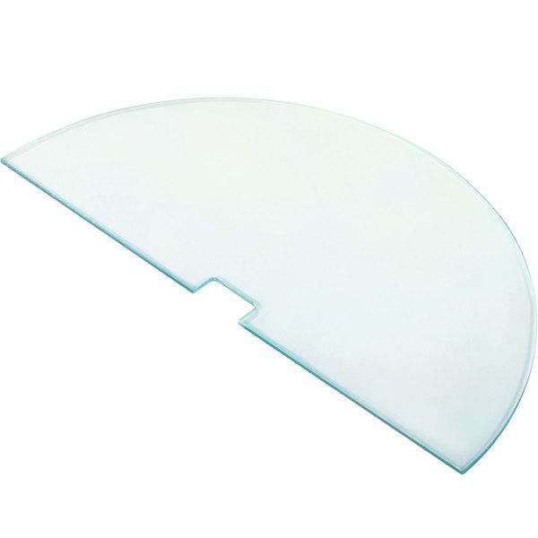 "Cal-Mil 831-RD Round Glass Shelf for Pillar Risers - 19 3/4"" x 10"" x 1/4"""