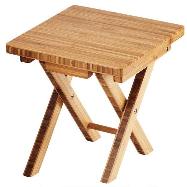 "Cal-Mil 3620-11-60 Bamboo Folding Riser - 10"" x 10"" x 10 3/4"""