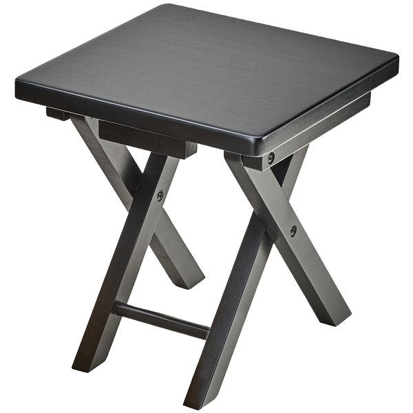 "Cal-Mil 3620-11-96 Midnight Bamboo Folding Riser - 10"" x 10"" x 10 3/4"""