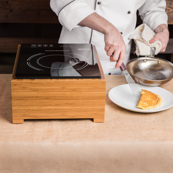 Cal-Mil 3633-60 Bamboo Countertop Induction Cooker - 120V, 1600W