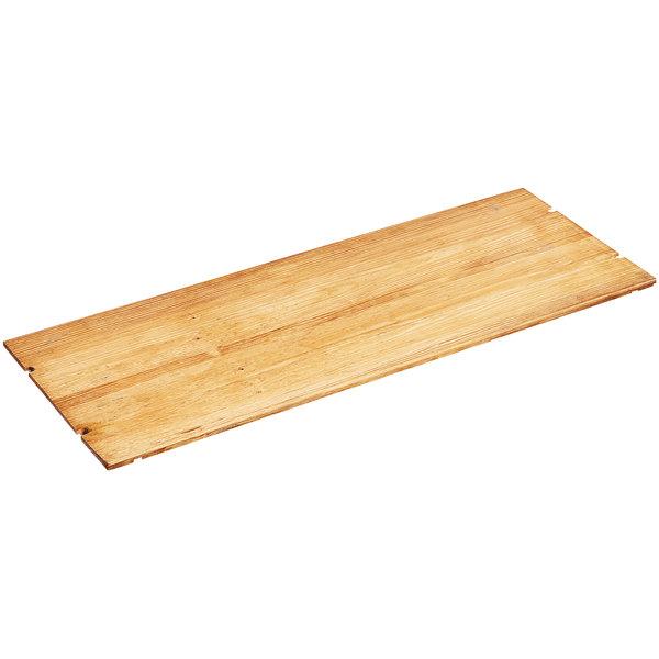 "Cal-Mil 1435-1248-99 Madera Reclaimed Wood Rectangular Riser Shelf - 48"" x 12"""