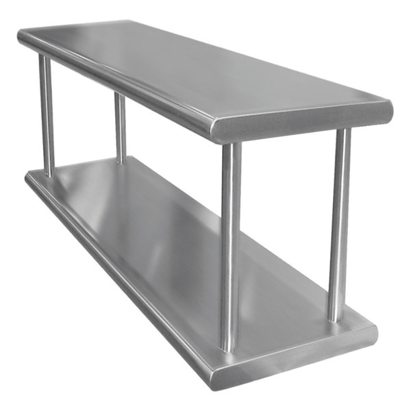 "Advance Tabco PA-18-60-2 Pass-Through Shelf with Overshelf - 60"" x 18"""