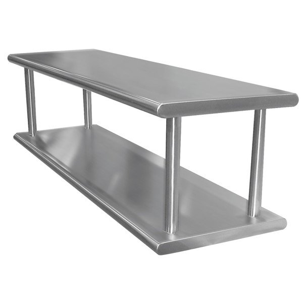 "Advance Tabco PA-24-96-2 Pass-Through Shelf with Overshelf - 96"" x 24"""