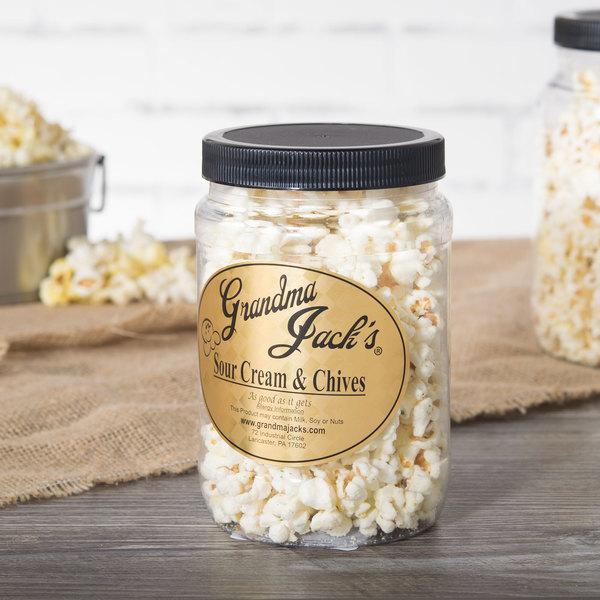 Grandma Jack's 32 oz. Gourmet Sour Cream and Chives Popcorn