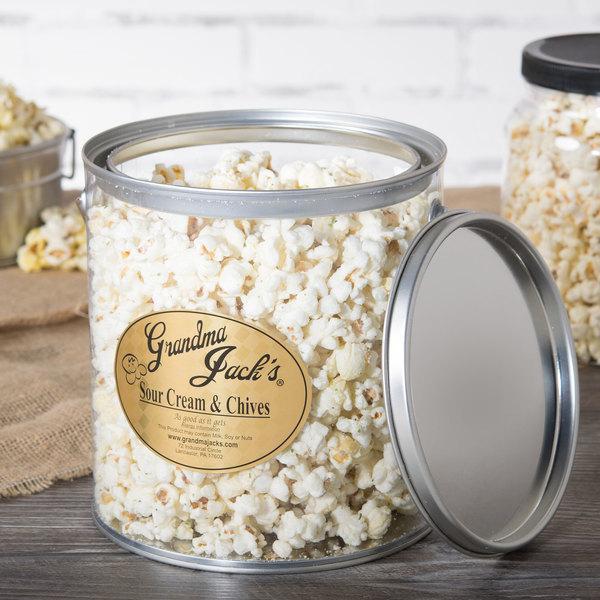 Grandma Jack's 1 Gallon Gourmet Sour Cream and Chives Popcorn