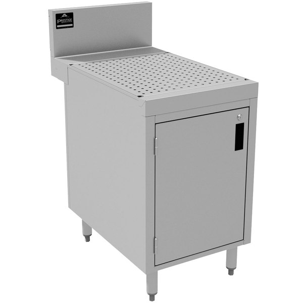 "Advance Tabco PRSCD-24-12-M Prestige Series Enclosed Stainless Steel Drainboard Cabinet with Door and Shelf - 12"" x 30"""