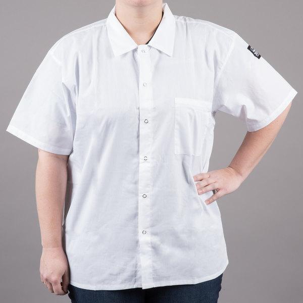 Chef Revival CS006 White Unisex Customizable Short Sleeve Cook Shirt - XL Main Image 1