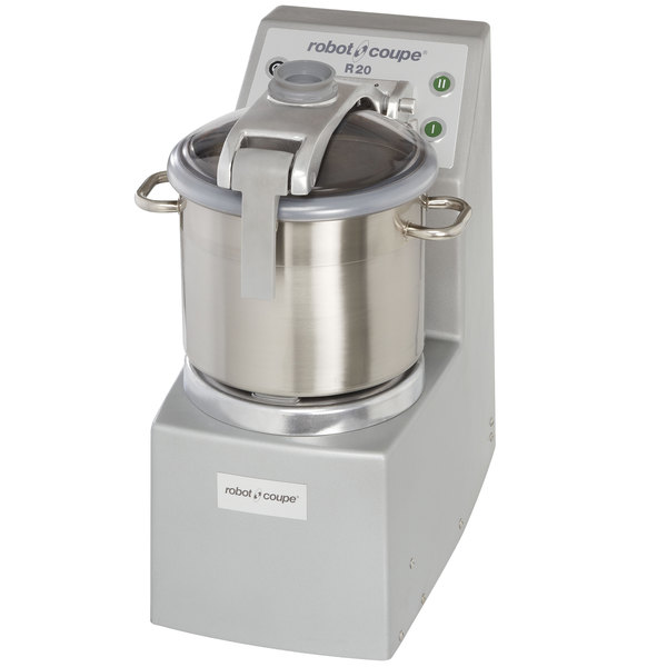 Robot Coupe R20 2-Speed 20 Qt. Stainless Steel Batch Bowl Food Processor - 240V, 3 Phase, 5 1/2 hp Main Image 1