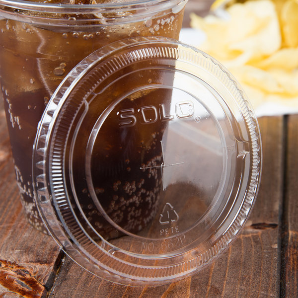 Dart Solo 662TS 12 oz. Clear Plastic Lid with Straw Slot - 1000/Case