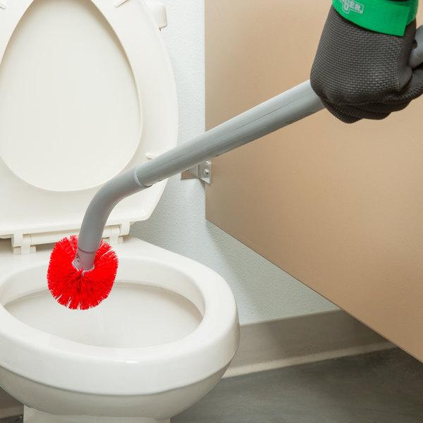 "Unger BBCOR Ergo 26"" Toilet Bowl Brush with 2 Nylon Bristle Heads"