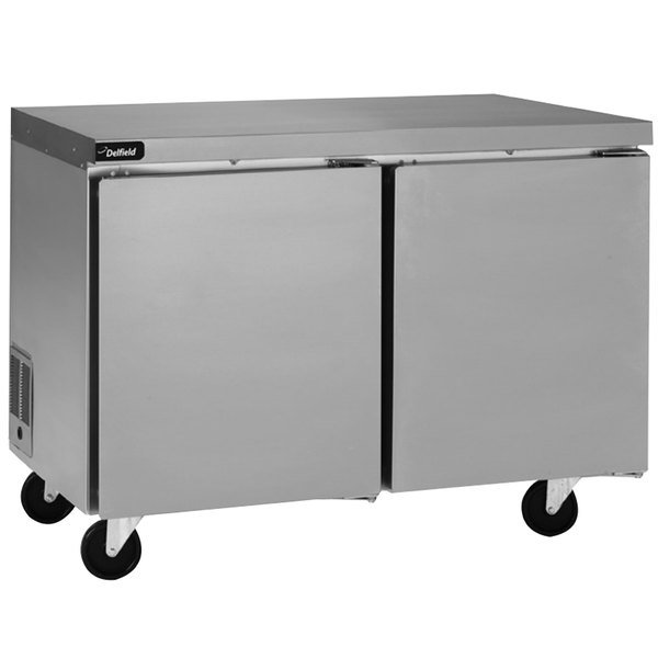 """Delfield GUR60P-S 60"""" Undercounter Refrigerator with 5"""" Casters - 20.2 Cu. Ft."""